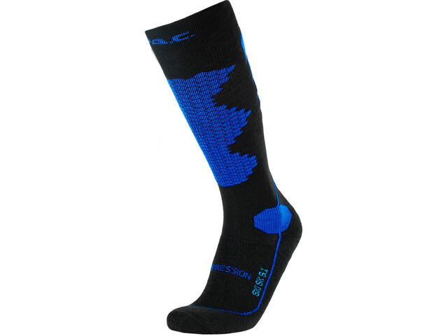 P.A.C. SK 8.1 Merino Calze Da Sci A Compressione Uomo, black/blue